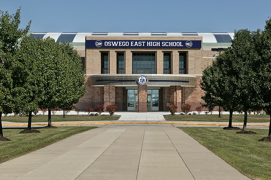 Oswego East Front Exterior View