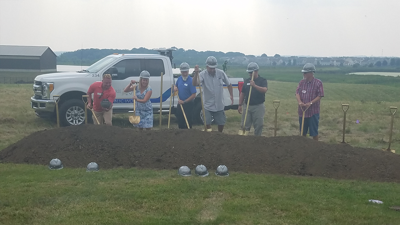 Village Board Ground Breaking