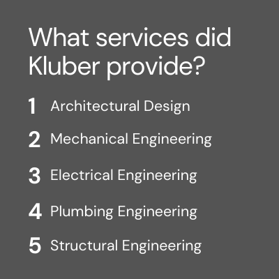 Kluber Architects + Engineers Services Provided